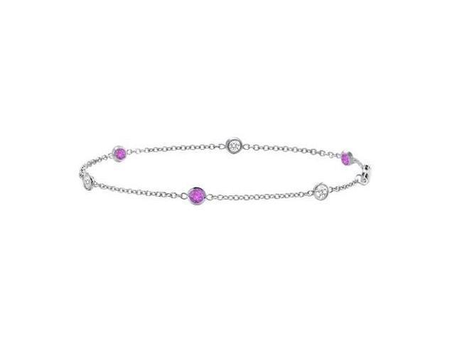 Amethyst and Diamond Bracelet  14K White Gold - 1.00 CT TGW