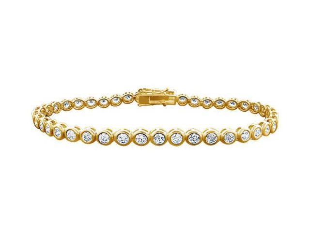 Tennis Bracelet Three Carat Diamonds Complete Diamond Tennis Bracelet