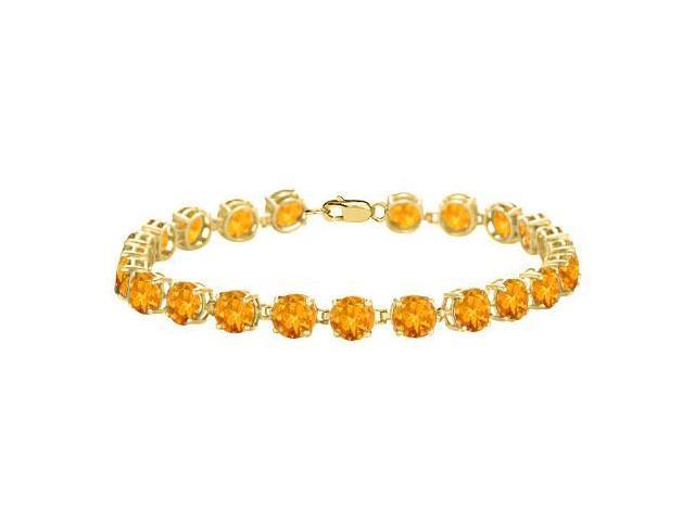 Citrine Bracelet in 18K Yellow Gold Vermeil. 12 CT. TGW. 7 Inch