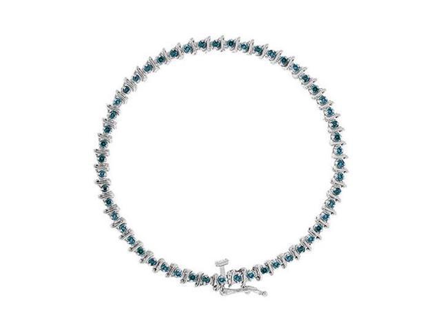 Blue Diamond Bracelet  14K White Gold - 1.00 CT Diamonds