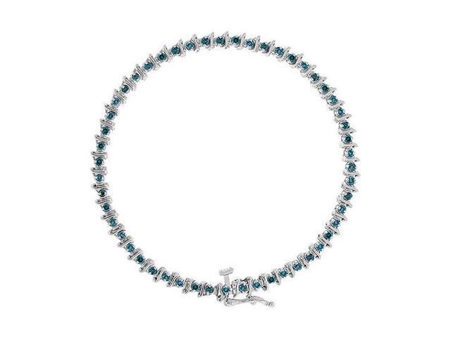 Blue Diamond Bracelet  14K White Gold - 2.00 CT Diamonds