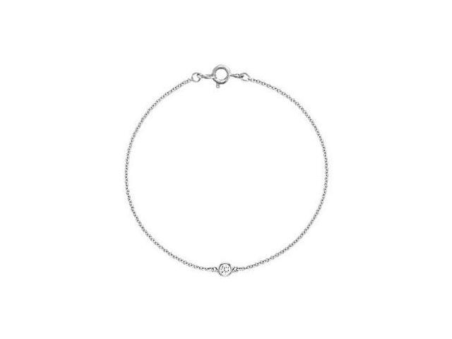 Bezel-set Diamond Bracelet  14K White Gold - 0.15 CT Diamonds