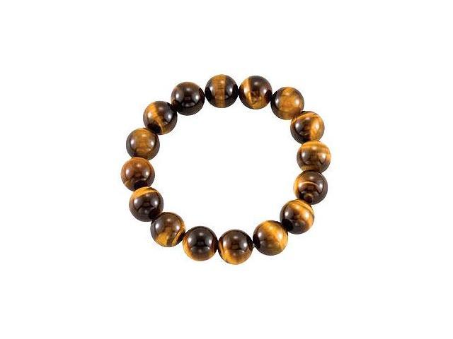 Genuine Tiger Eye Stretch Bracelet - 12.00 X 12.00 MM with 6.50 INCH