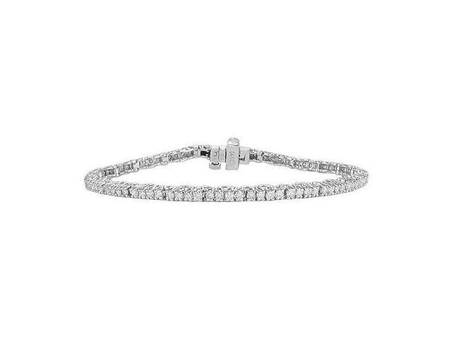 Diamond Tennis Bracelet  14K White Gold - 2.00 CT Diamonds