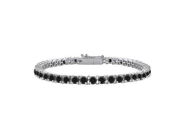 Black Diamond Tennis Bracelet with 2 CT Black Diamonds