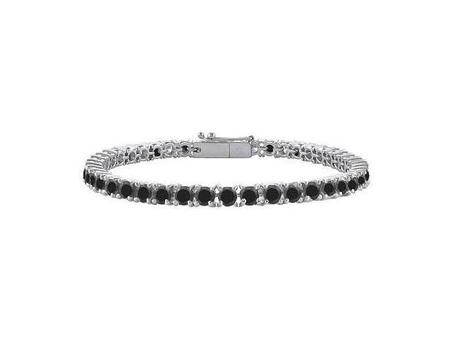 Black Diamond Tennis Bracelet with 3 CT Black Diamonds