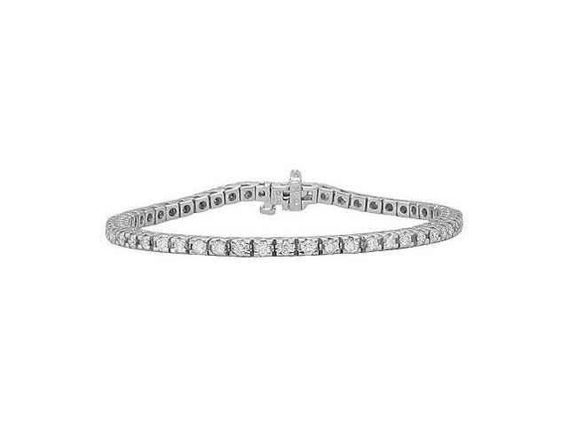 Diamond Row Bracelet  14K White Gold - 2.00 CT Diamonds