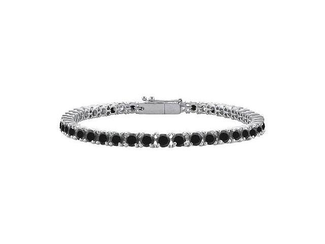 Black Diamond Tennis Bracelet with 4 CT Black Diamonds