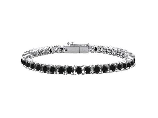 Black Diamond Tennis Bracelet with 10 CT Black Diamonds