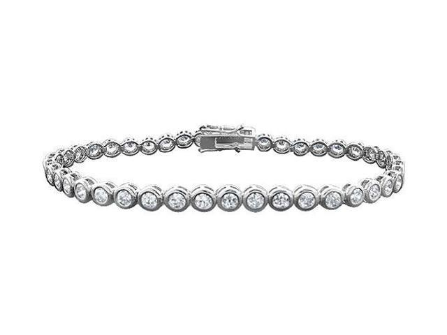 Tennis Bracelet Four Carat Diamonds Complete Diamond Tennis Bracelet