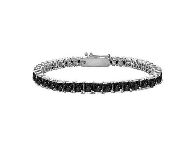 Black Diamond Tennis Bracelet with 5 CT Black Diamonds