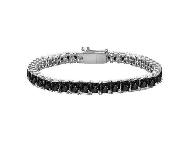Black Diamond Tennis Bracelet with 7 CT Black Diamonds