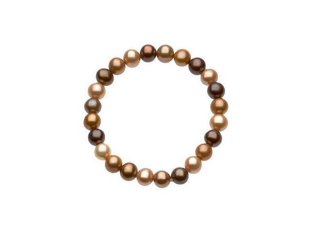 Freshwater Cultured Dyed Chocolate Pearl Bracelet - 7 Inch/ 8-9 MM