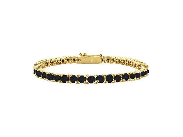Black Diamond Tennis Bracelet with 3 CT Black Diamonds