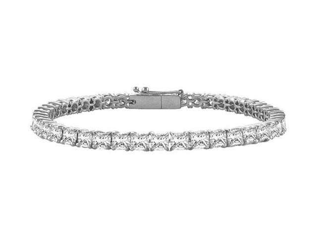 Tennis Bracelet 2 Carat Princess Cut Complete CZ Tennis Bracelet on 925 Sterling Silver