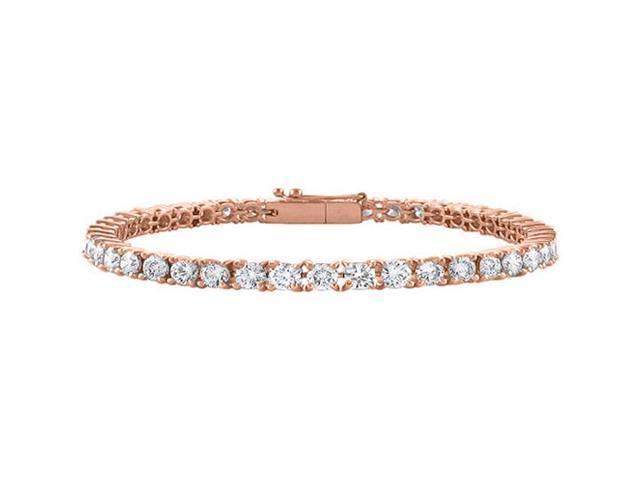 Diamond Tennis Bracelet in 14K Rose Gold. 2CT. TGW. 7 Inch