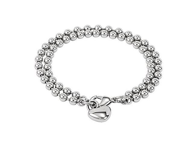 Stainless Steel Bead Chain Bracelet in 8 Inch Length