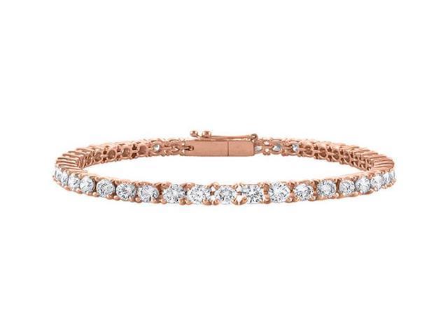 Diamond Tennis Bracelet in 14K Rose Gold. 3 CT. Diamonds. 7 Inch