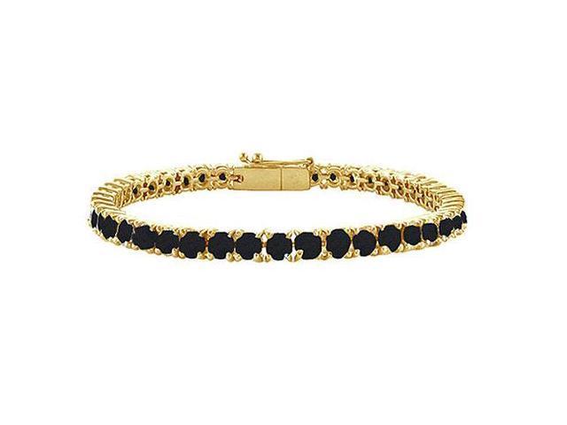 Black Diamond Tennis Bracelet with 7 CT Black Diamonds