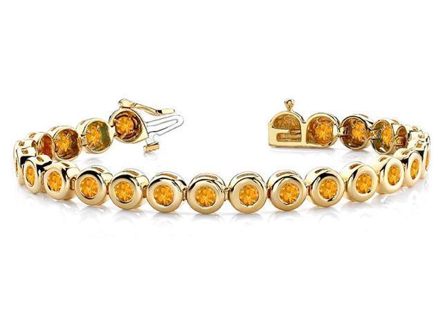 Citrine Tennis Bracelet in 14K Yellow Gold. 10.50 ct.tw.