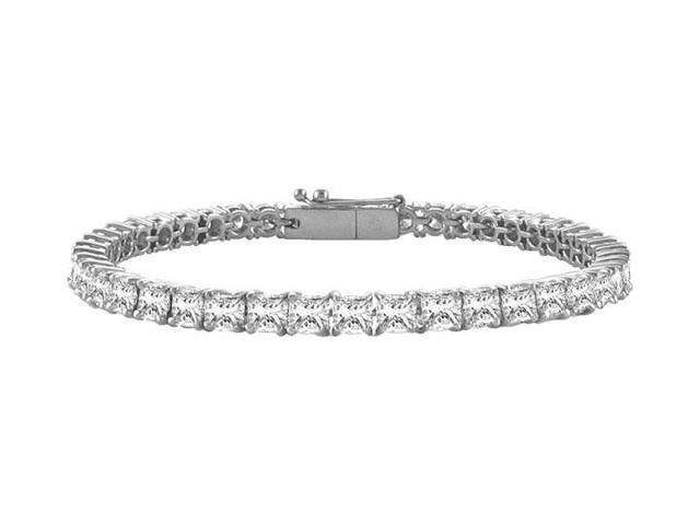 Tennis Bracelet 5ct Princess Cut CZ Complete AAACZ Tennis Bracelet on 925 Sterling Silver