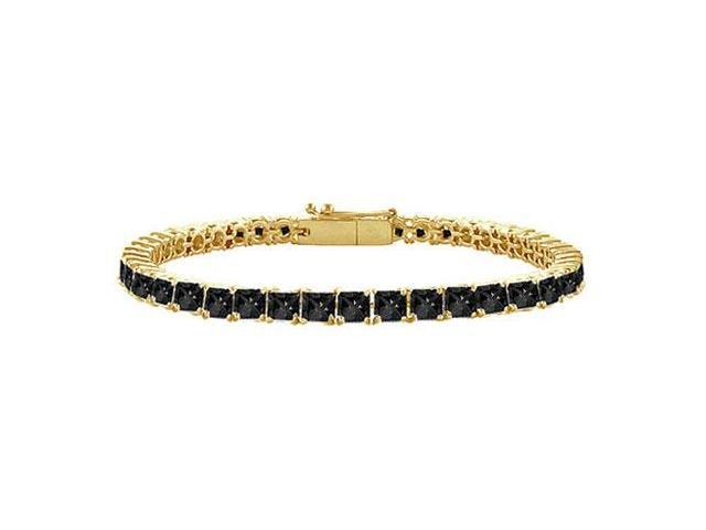 Black Diamond Tennis Bracelet with 2 CT Black Diamonds