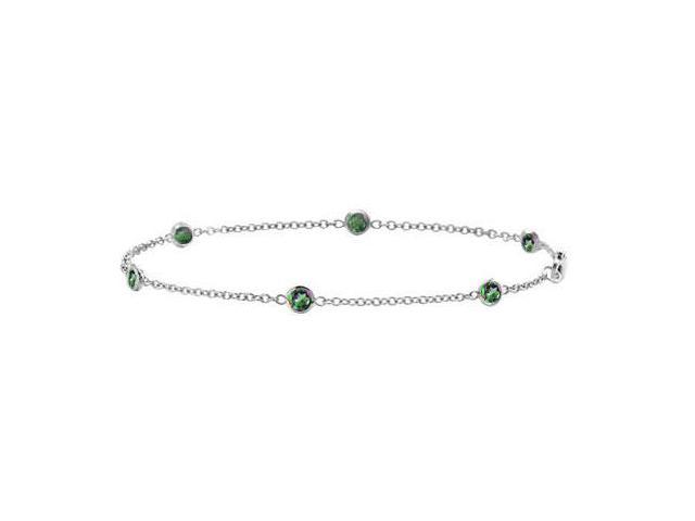7 Inch Bracelet by The Yard Mystic Topaz with Total Weight 0.60 Carat in White Gold 14K