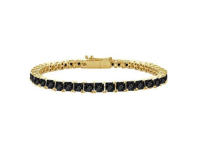 Black Diamond Tennis Bracelet with 5 CT Black Diamonds