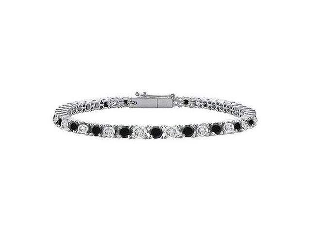 Black and White Diamond Tennis Bracelet with 2 CT Diamonds