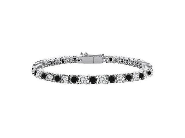 Black and White Diamond Tennis Bracelet with 4 CT Diamonds