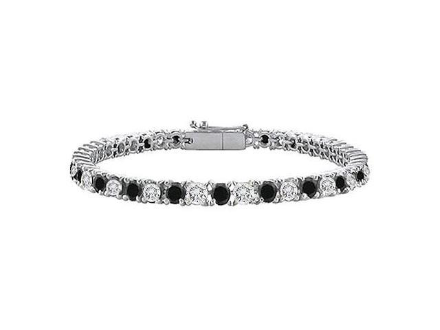 Black and White Diamond Tennis Bracelet with 5 CT Diamonds