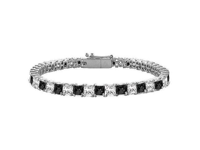 Black and White Diamond Tennis Bracelet with 5 CT Diamonds