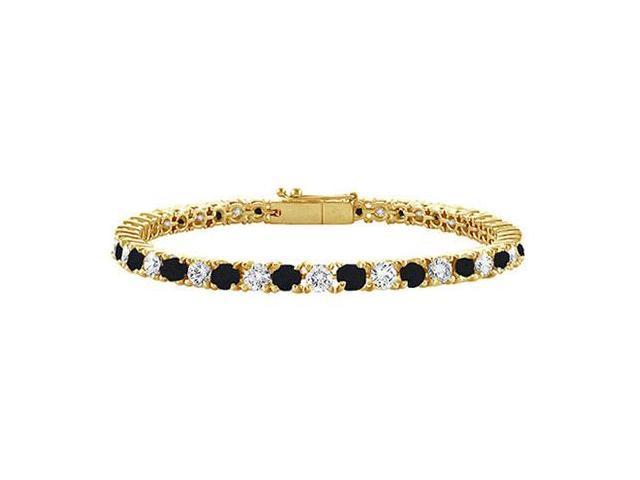 Black and White Diamond Tennis Bracelet with 1 CT Diamonds