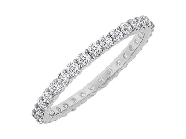 Diamond Eternity Bangle  18K White Gold - 10.00 CT Diamonds