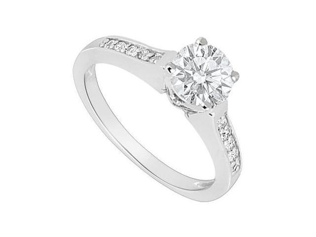 14K White Gold  Diamond Engagement Ring 0.60 CT TDW