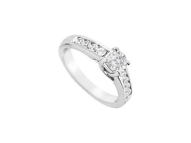 Diamond Engagement Ring  14K White Gold - 1.00 CT TDW