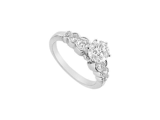 Diamond Engagement Ring  14K White Gold - 1.50 CT Diamonds