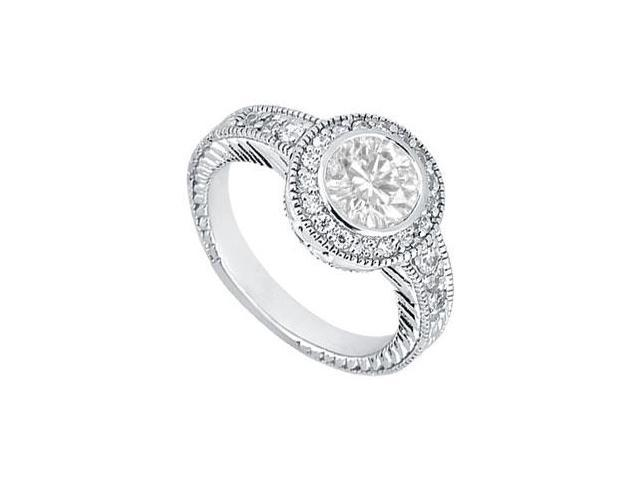 Diamond Engagement Ring  Platinum - 0.75 CT Diamonds