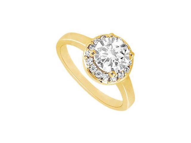 Diamond Engagement Ring  14K Yellow Gold - 0.75 CT Diamonds