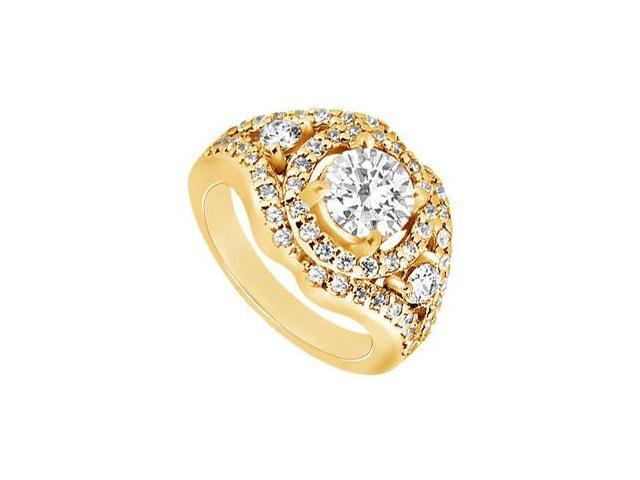 Diamond Engagement Ring  14K Yellow Gold - 1.50 CT Diamonds