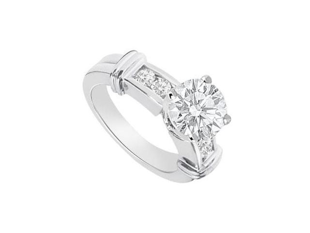 Diamond Engagement Ring 14K White Gold  0.66 CT TDW