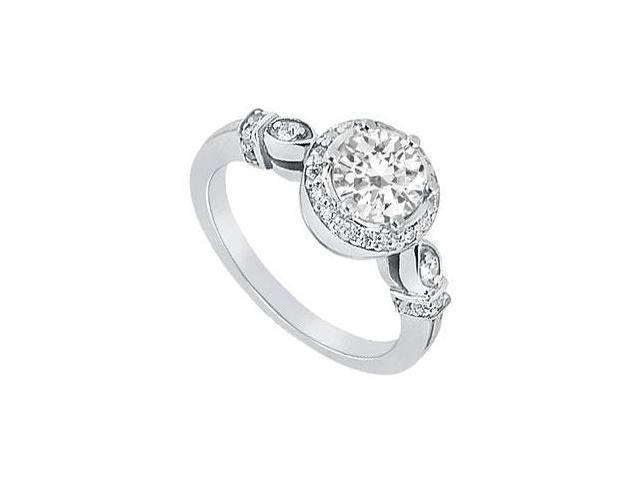 Diamond Engagement Ring  Platinum - 0.75 CT Diamonds