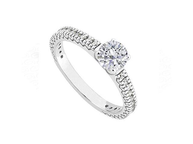 Diamond Engagement Ring in 14K White Gold 1.00.ct.tdw