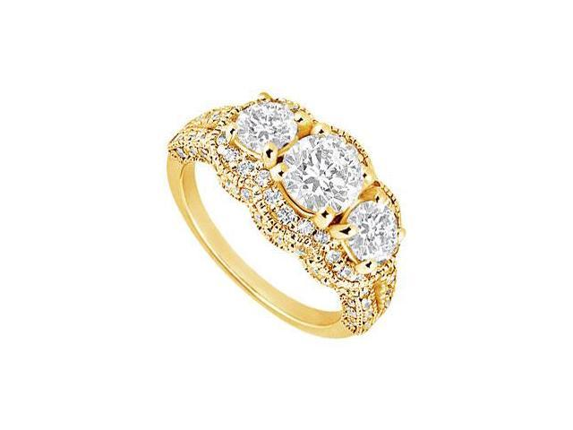 Diamond Engagement Ring  14K Yellow Gold - 1.75 CT Diamonds