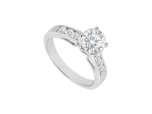 Diamond Engagement Ring 14K White Gold  1.00 CT TDW