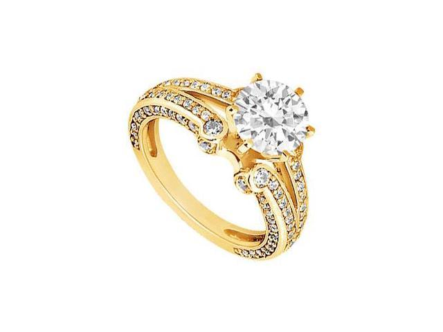 Diamond Engagement Ring  14K Yellow Gold - 1.25 CT Diamonds