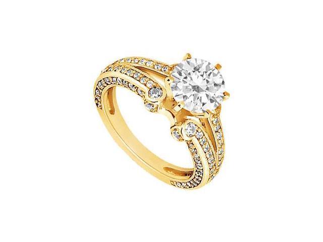 Diamond Engagement Ring  14K Yellow Gold - 1.25 CT Diamonds