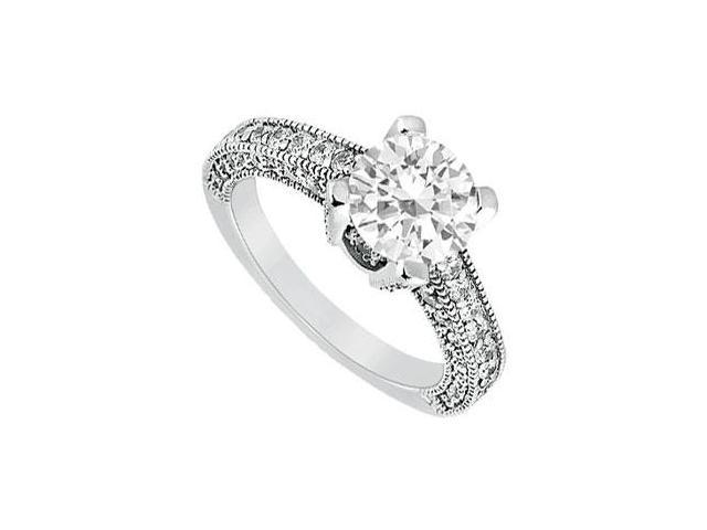 Diamond Engagement Ring  Platinum - 1.20 CT Diamonds