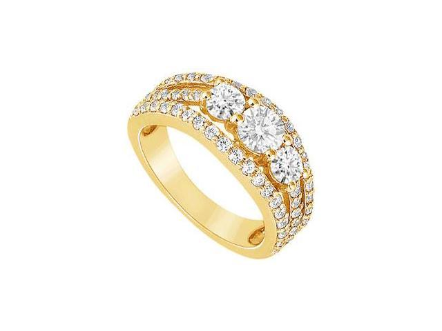 Diamond Engagement Ring  14K Yellow Gold - 2.25 CT Diamonds