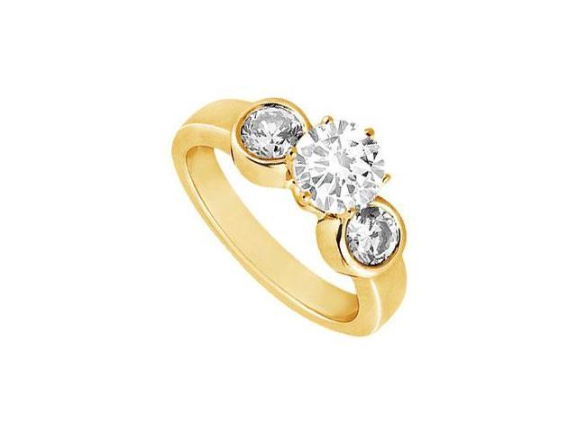Diamond Engagement Ring  14K Yellow Gold - 0.50 CT Diamonds